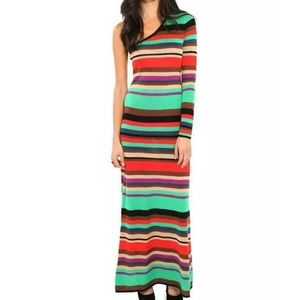 BCBGMaxAzria Anadia Colorful Striped Maxi Dress